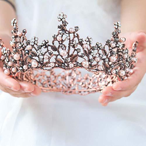 Victray Bride Wedding Vintage Crowns and Tiaras Bridal Crystal Headbands Baroque Headpieces for Women and Girls