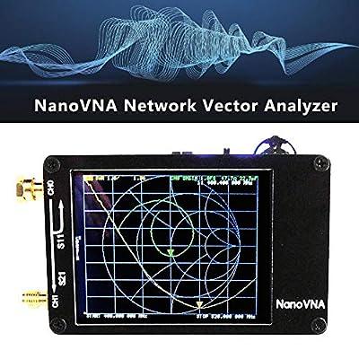 Vector Network Analyzer, Nano VNA Vector Network Analyzer with Antennas TFT Screen for NanoVNA, Portable Handheld Vector Network Analyzer 50 KHz-900 MHz Digital Display Touchscreen Shortwave MF HF VHF