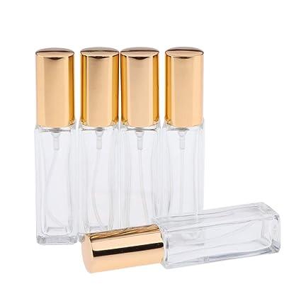 Homyl 5 Pedazos Tarros de Vidrio Botella Difusor Estuche de Aroma/Aceite Esencial/Perfume