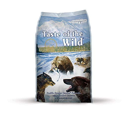 Taste of the Wild Pacific Stream Grain Free Protein Real Meat Recipe Natural Dry Dog Food with Real Smoked Salmon 30lb