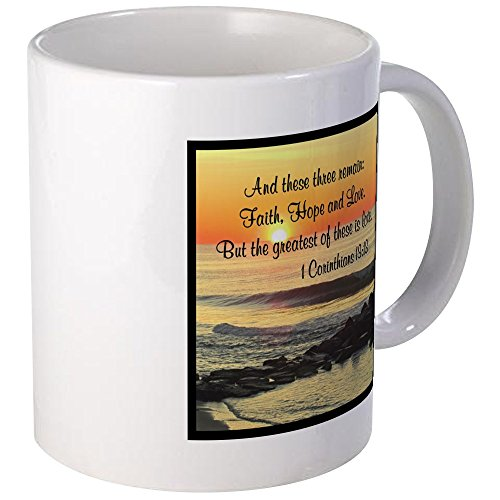 CafePress – 1 CORINTHIANS 13:13 – Coffee Mug, Novelty Coffee Cup
