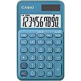 Calculadora Portátil Casio c/ visor amplo 10 dígitos e alimentação Dupla Casio, Azul