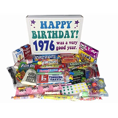 70OFF 1976 41st Birthday Gift Basket Box Of Nostalgic Retro Candy From Childhood For
