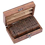 Lost Ocean 70pcs/Set Wooden Box Multipurpose Number Alphabet Letter Wood Rubber Stamp New