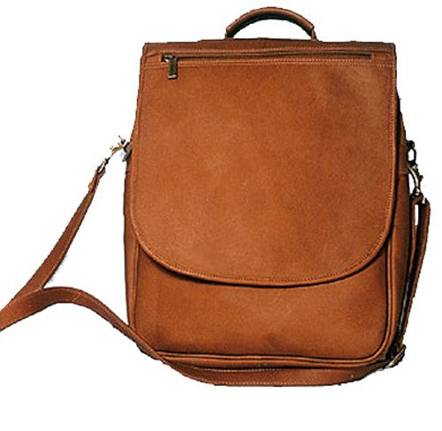 (David King & Co. Vertical Expandable Portfolio Backpack, Tan, One Size)