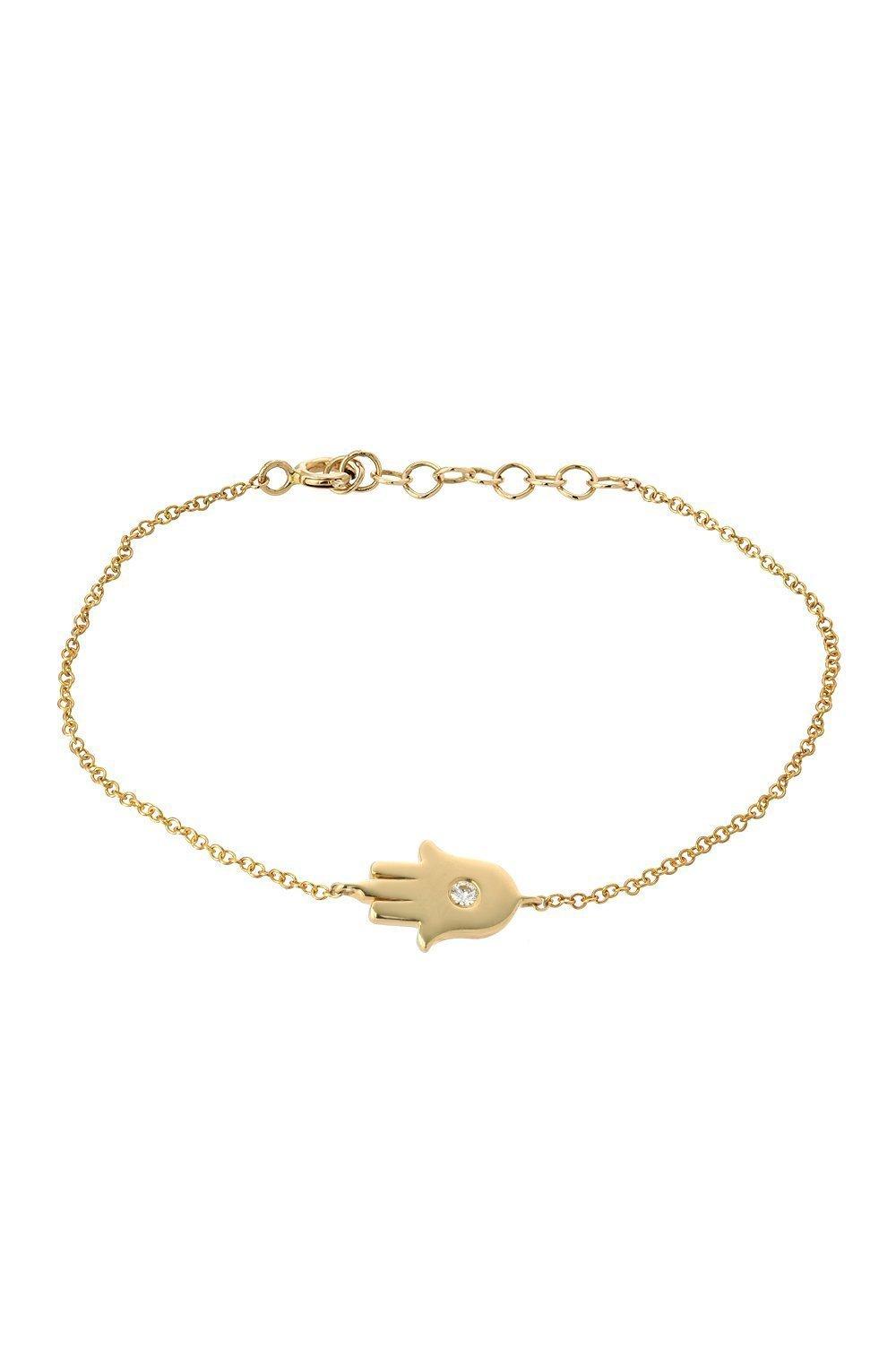 14k gold hamsa bracelet with diamond, single diamond hamsa
