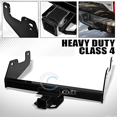 S T Racing Black Finished Class 4 Trailer Hitch Receiver Rear Bumper Tow Kit 2 For 2015 2018 Ford F150