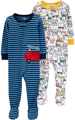 Carters 2 Pack Cotton Footed Pajamas product image