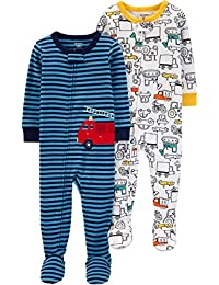 Baby Boys 2-Pack Cotton Footed Pajamas