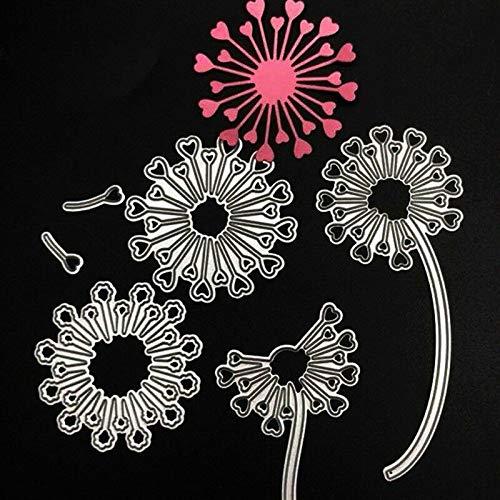 FidgetKute Dandelion Metal Cutting Dies Stencil for Scrapbooking Paper Card Embossing - Die Dandelion