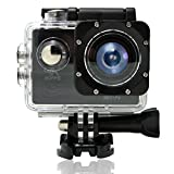 MEEKU F60 Action Camera 1080P WiFi Waterproof Sports Cam 140° Ultra Wide-Angle Len LT4247
