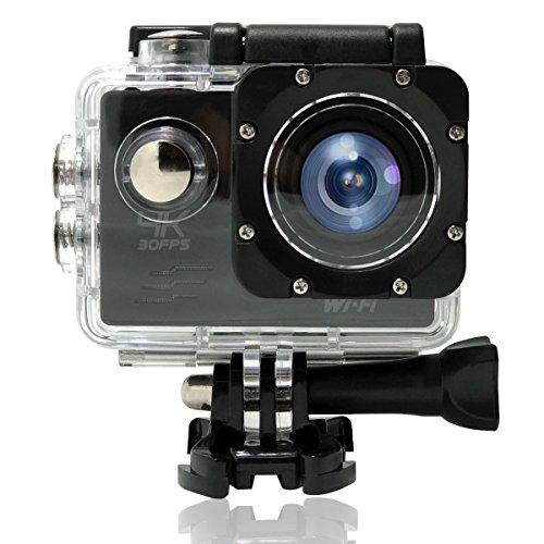 MEEKU F60 Action Camera 1080P WiFi Waterproof Sports Cam 140° Ultra Wide-Angle Len LT4247 by MEEKU