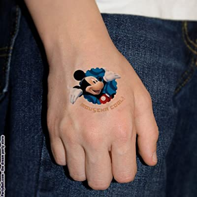 Mickey Mouse Tattoos 4 Sheets: Toys & Games
