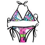 Most Fashion Maker Girls Tied And Dyed Watercolor Tree Art Printing Summer Sexy Two Pieces Swim Wear