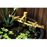 Aquascape 78014 Poly-Resin Bamboo Fountain for Pond, Garden, and Water Features, Adjustable Pouring Fountain