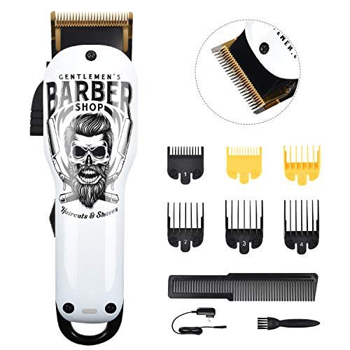 Updated Version Professional Hair Clippers Cordless Haircut Kit Rechargeable 2000mAh Hair Beard Trimmer Haircut Grooming Kit with 6 Guide Combs & for Men/Father/Husband/Boyfriend