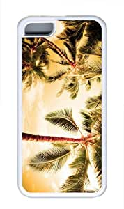 customized cases beach palm trees TPU White Case for iphone 5C
