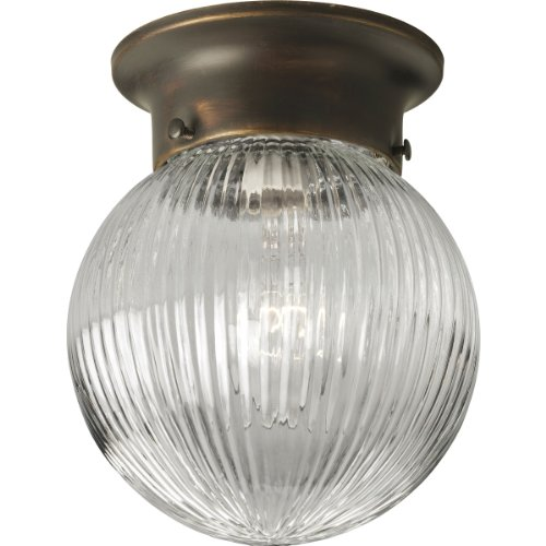 Progress Lighting P3599-20 1-Light Close To Ceiling Fixture, Antique Bronze