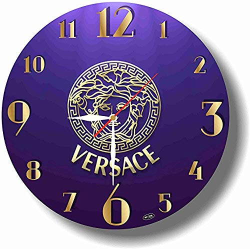 dudkaair Versace 11.4 Handmade Wall Clock - Get Unique décor for Home or Office - Best Gift Ideas for Kids, Friends, Parents and Your Soul Mates
