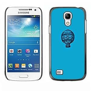 Be Good Phone Accessory // Dura Cáscara cubierta Protectora Caso Carcasa Funda de Protección para Samsung Galaxy S4 Mini i9190 MINI VERSION! // Blue Pattern Minimalist Flight