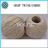 FINCOS (8pcs/lot) 1mm Natural Hemp Twine Waxed Hemp Cords (100m/ball) Natural Color Hemp Rope