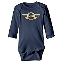 OULIKE Mini Cooper Logo Car Flags Long Sleeve Baby Climbing Clothes Bodysuit