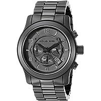 Michael Kors - Relojes Michael Kors deportivos con cronógrafo, de acero negro para hombre, Estándar, negro (Shiny Black/Black)