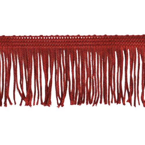 Chainette Fringe 10-Yard Polyester Fringe Rolls for Arts and Crafts, 2-Inch Long, Red