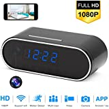Wi-Fi Alarm Clock Camera, TOTUOKEY 1080P Wireless Security Camera with Motion Detection Night Vision Loop recording Real-Time Live VideoHome Surveillance Nanny Cam iOS android App