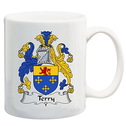 Terry Coat of Arms/Terry Family Crest 11 Oz Ceramic Coffee/Cocoa Mug by Carpe Diem Designs, Made in the U.S.A.