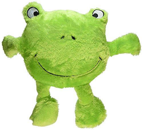 ZippyPaws Brainey Squeaky Plush Dog Toy, Frog