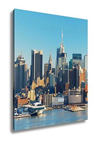 Amazon.com: Ashley Canvas New York City Skyline, Wall Art Home Decor ...