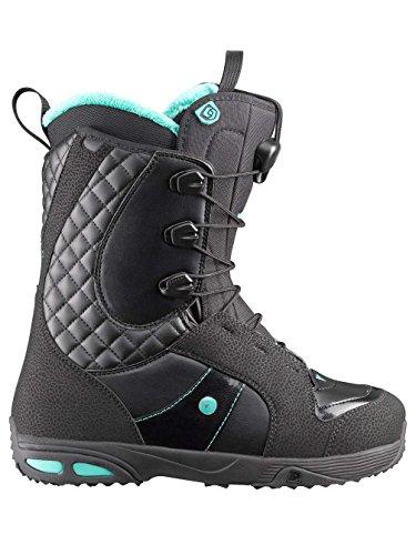 Snowboard Ivy Boot (Salomon Snowboards Ivy Snowboard Boot - Women's Black/White/Black, 24.0)