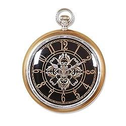 GuoEY Minimalist art large Pocket watch wall clock Creative Quartz clock decoration Wall clock bedroom Mute Pocket watch Crafts