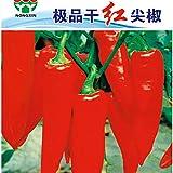 Go Garden BELLFARM Bonsai Hunan Red Dried Chili Heirloom Very Hot Pepper High Germination -300pcs/pack