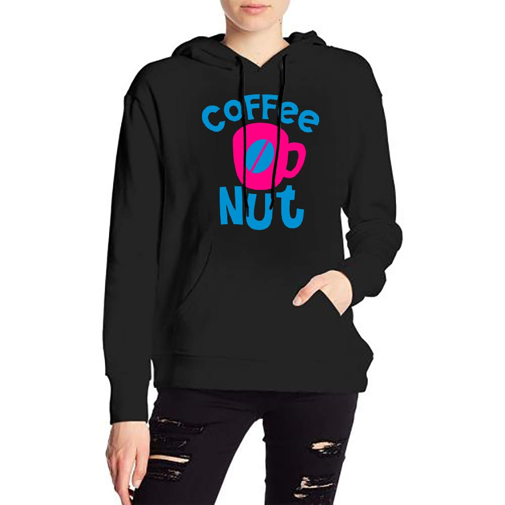JiJingHeWang Womans Coffee Nut Sweater Sports Drawstring Hooded