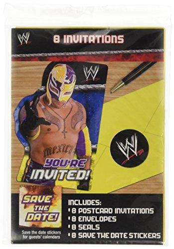 WWE Wrestling Invitations w/ Envelopes (8ct)]()