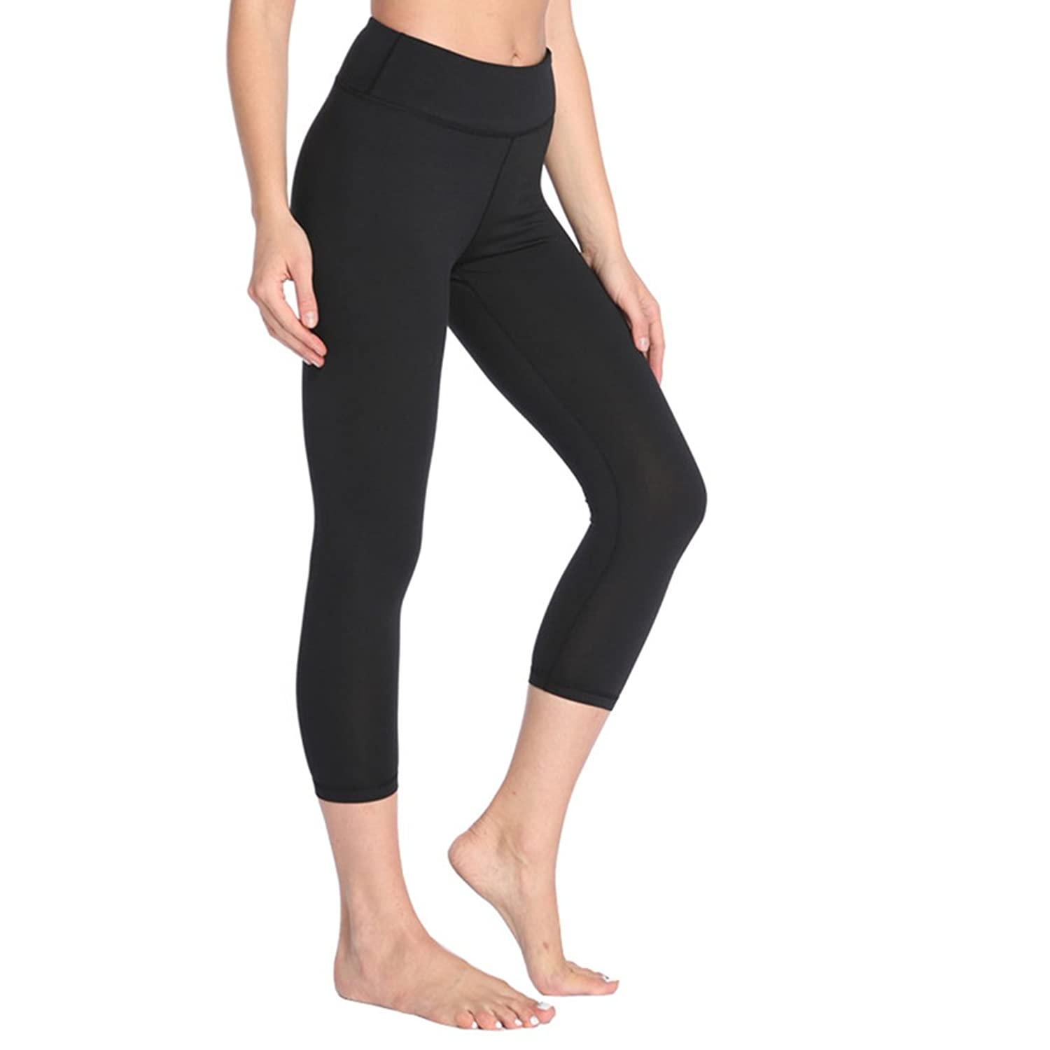 47bd99653d125 Capri leggings With Superior quality ---Non see-through, breathable and 4  way Stretch fabric Provide greater freedom of movement. Hidden Pocket  ---This high ...