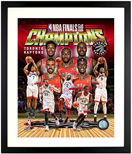 Art Maison Canada,13X16 LEONARD & LOWVIE Framed Paper Print |Ready to Hang|Toronto Raptors, NBA (Best Scanner For Artwork 2019)