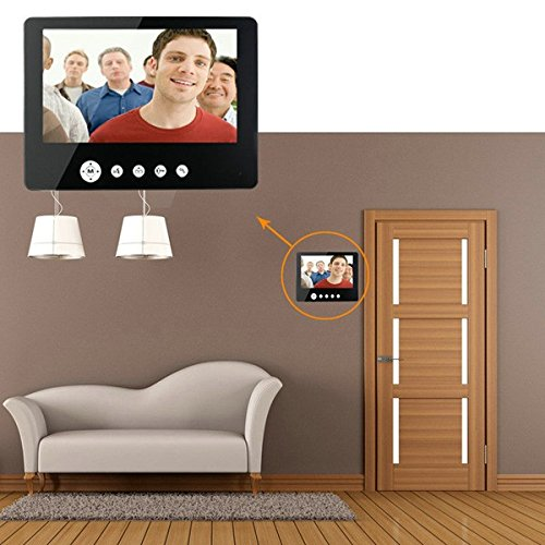 HITSAN SY905FC11 Video Door Phone Doorbell Intercom Kit 900TVL IR Night Vision Camera 9 Inch TFT Screen Monitor One Piece