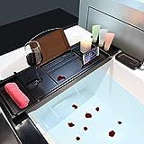Bamboo Luxury Bathtub Caddy, Bamboo Bath Tub Tray