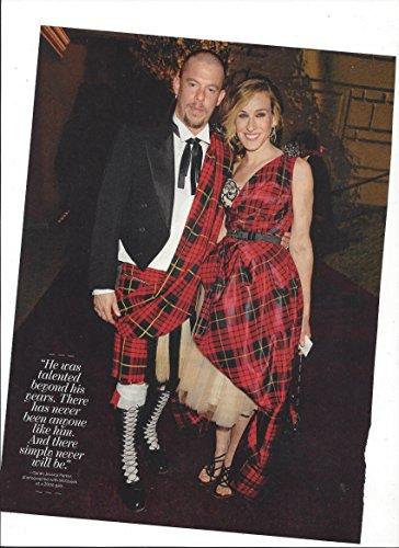 Original 2010 Magazine Photograph With Sarah Jessica Parker & Alexander - Alexander Mcqueen Sales