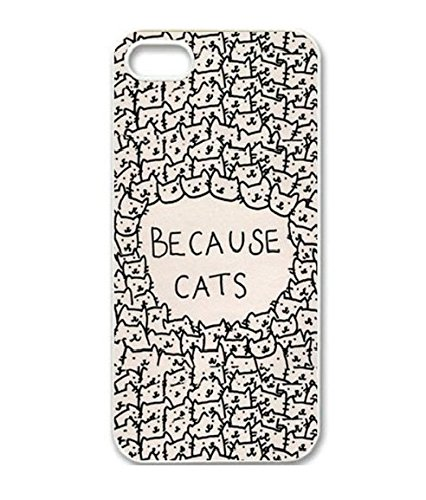 Season.C Because Cats Animal Cats Cartoon Retro Vintage Funny Patterned Hard Back Case Cover Skin For iPhone 5C