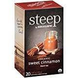 steep by Bigelow Organic Sweet Cinnamon Black Tea Bags, 20 Count Box (Pack of 6), Caffeinated Black Tea, 120 Tea Bags Total