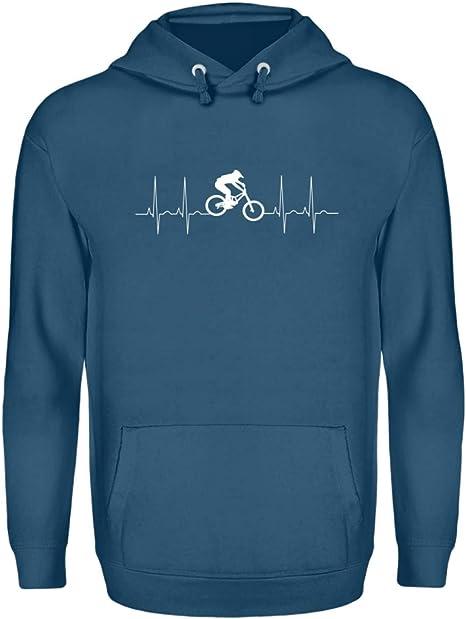 Biking Corazon MTB Bicicleta Downhill - Sudadera Unisex: Amazon.es ...