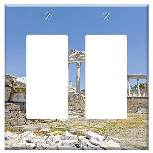 (Switch Plate Double Rocker/GFCI - Bergama Ruins Turkey Landmark Ancient Heritage )