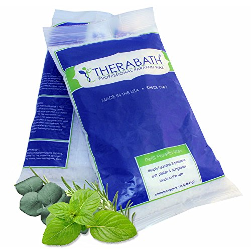 Eucalyptus Paraffin Wax - Therabath Paraffin Wax Refill - Use To Relieve Arthritis Pain and Stiff Muscles - Deeply Hydrates and Protects - 6lbs Eucalyptus Rosemary Mint