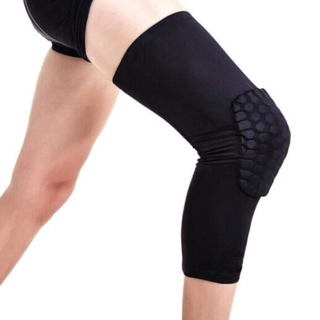 BCX Homemovement Collision Knee Skating Protective Gear Gamba piccola Allunga Uomini traspiranti Gambali a sezione lunga Caricati singoli,xl