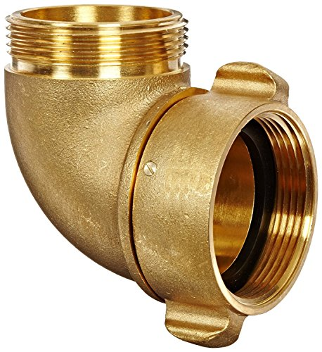(Dixon Valve RSE90250F Brass Fire Equipment, 90 Degree Angle and Suction Elbow with Rocker Lug, 2-1/2