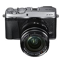 Fujifilm X-E3 Mirrorless Digital Camera with XF 18-55mm f/2.8-4.0 R LM OIS Lens Kit - Silver